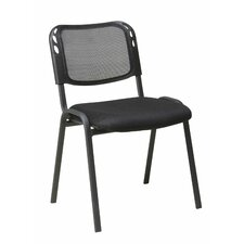 Work Smart Armless Stacking Chair in Black (Set of 4)
