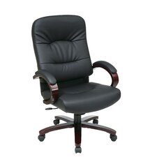 <strong>Office Star Products</strong> High-Back Eco Leather Executive Office Chair with Arms