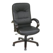 <strong>Office Star Products</strong> High-Back Eco Leather Chair with Padded Arms