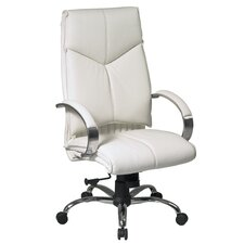 Deluxe High-Back Executive Leather Office Chair with Arms