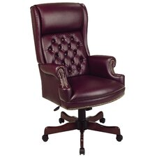 <strong>Office Star Products</strong> Deluxe High-Back Executive Chair with Arms
