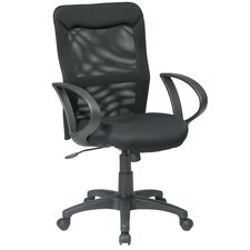 <strong>Office Star Products</strong> High-Back Mesh Office Chair with Loop Arms