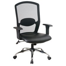 <strong>Office Star Products</strong> Screen Mid-Back Office Chair with Arms