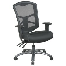 <strong>Office Star Products</strong> ProLine II High-Back Leather / Mesh Office Chair
