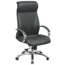 <strong>Office Star Products</strong> ProLine II Deluxe High-Back Leather Executive Chair