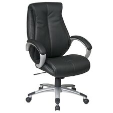 Work Smart High-Back Executive Padded Chair with Arms