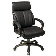 "<strong>Office Star Products</strong> 25.25"" Back Leather Executive Chair"