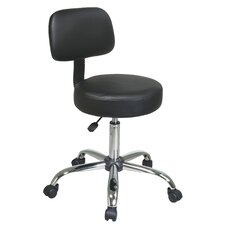 Vinyl Seat and Back Chrome Finish Drafting Chair