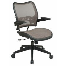 <strong>Office Star Products</strong> Air Grid Back and Mesh Seat Space Seating Latte Deluxe Office Chair