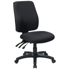 Work Smart High-Back Dual-Function Ergonomic Office Chair with Arms