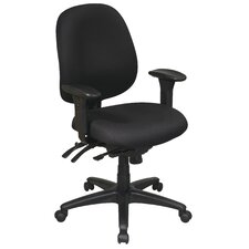 <strong>Office Star Products</strong> Work Smart Mid-Back Multi-Function Ergonomic Office Chair