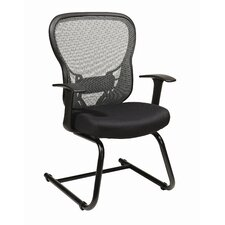 <strong>Office Star Products</strong> Deluxe R2 SpaceGrid® Back Mesh Seat Visitors Chair with Fixed Arms