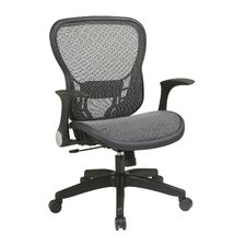 <strong>Office Star Products</strong> Deluxe R2 SpaceGrid® Seat and Back Chair with Flip Arms and Nylon Base