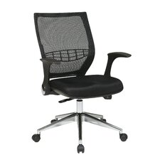 ProGrid Back Mesh Fabric Managers Chair with Flip Arms