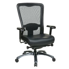 <strong>Office Star Products</strong> ProGrid High Back Leather Chair