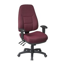 Worksmart High-Back Office Chair with 2-Way Adjustable Arms