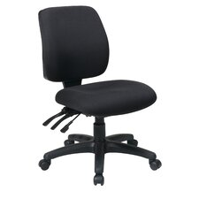 Work Smart Mid-Back Dual-Function Ergonomic Office Chair