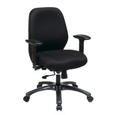 "<strong>Office Star Products</strong> 24.5"" 24 Hour Ergonomic Chair with Synchro Tilt, Seat Slider and 2-Way Adjustable Arms"