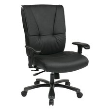 <strong>Office Star Products</strong> Deluxe Big and Tall Back Leather Executive Office Chair