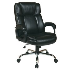 Eco Leather Big Mans Executive Office Chair with Padded Loop Arms