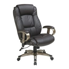<strong>Office Star Products</strong> Eco Leather Executive Office Chair with Arms