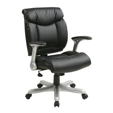 <strong>Office Star Products</strong> Mid-Back Eco Leather Executive Office Chair