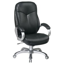 <strong>Office Star Products</strong> Work Smart High-Back Executive Chair with Padded Arms
