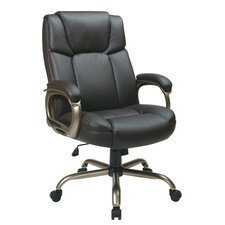 <strong>Office Star Products</strong> Eco Leather Big Mans Executive Office Chair with Padded Loop Arms