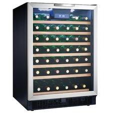 50 Bottle, Built-in or Freestanding Wine Cooler