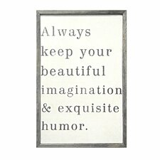 Always Keep Your Beautiful Framed Painting Print
