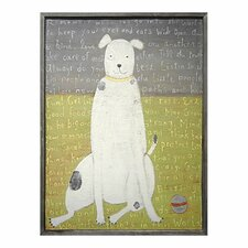 Boy Dog Framed Painting Print