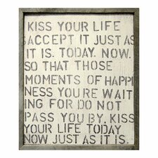 Kiss Your Life Framed Painting Print