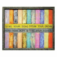 Sing Your Song Framed Painting Print