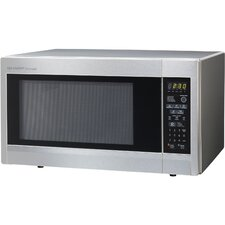 1.8 Cu. Ft. 1100 Watt Carousel Countertop Microwave Oven in Stainless Steel