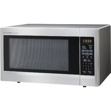 <strong>Sharp</strong> 2.2 Cu. Ft. 1200 Watt Carousel Countertop Microwave Oven in Stainless Steel