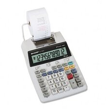 EL-1750V Compact Desktop Calculator, 12-Digit LCD, Two-Color Printing
