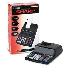 EL-2196BL Desktop Calculator, 12-Digit Fluorescent, Prints BLack and Red