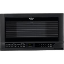1.5 Cu. Ft. 1100 Watt Over the Counter Microwave Oven in Black