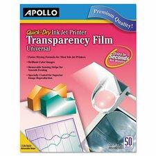 Inkjet Printer Transparency Film (Set of 50)