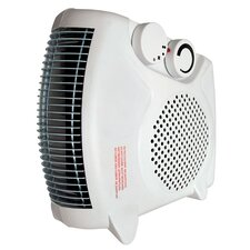 Deluxe 1500 Watt Convertible Fan Space Heater with Adjustable Thermostat