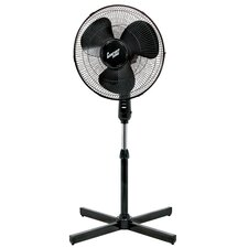"<strong>Comfort Zone</strong> 16"" 3-Speed Oscillating Pedestal Fan"