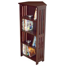 Solid Wood Corner CD / DVD Storage Tower
