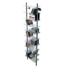 Large Wall Mounted Glass CD / Bathroom Storage Tower