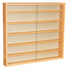 6 Shelf Wall Display Cabinet