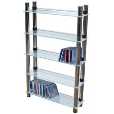 Chunky Glass CD / DVD Storage Tower