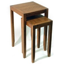 Solid Wood 2 Piece Nest of Tables