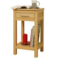 Solid Wood Storage Telephone / End Table
