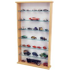 Wall Display Cabinet with 6 Shelves