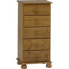 5 Drawer Storage Tallboy Chest