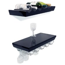 Monterey 2 Piece Wall Wine Shelf